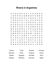 Rivers in Argentina