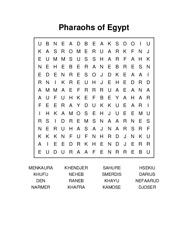 Pharaohs of Egypt